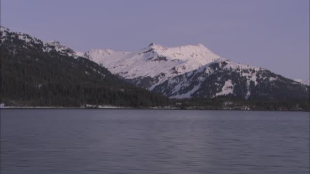snow dusts mountains around prince william sound, alaska. - prince william stock videos & royalty-free footage