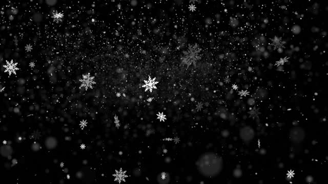 snow fall with abstract snowflakes shapes 4k loopable stock video - multi layered effect stock videos & royalty-free footage