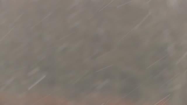 snow falling, dartmoor, uk - dartmoor stock videos & royalty-free footage