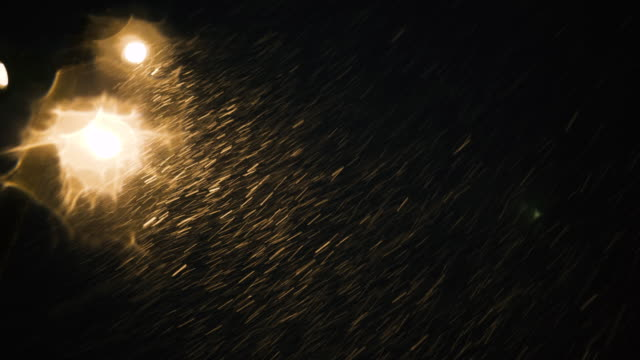 snow falling down on a car - peter snow stock videos & royalty-free footage
