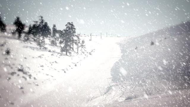 snow falling - loopable - deep snow stock videos & royalty-free footage