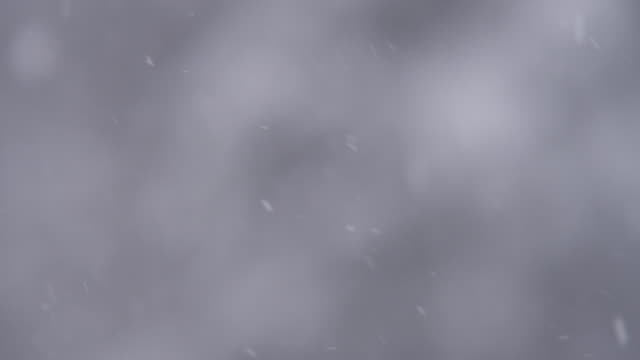 Snow falling through the air with unfocused background