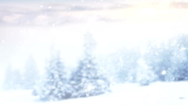 4k snow falling - snow cornice stock videos and b-roll footage