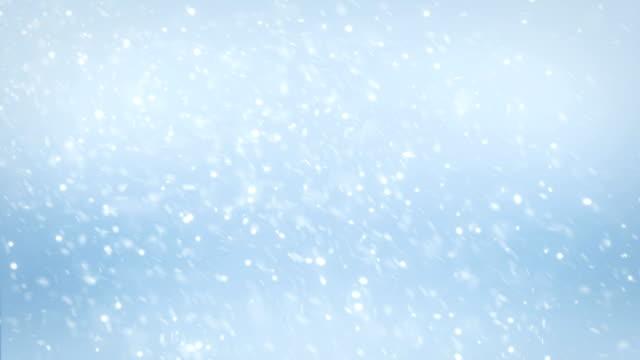 vídeos de stock, filmes e b-roll de 4k de neve caindo - pólo norte
