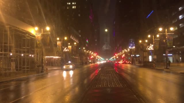 snow falls in center city and south philadelphia - center city philadelphia stock videos and b-roll footage