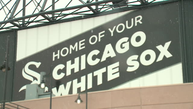 WGN Snow Falls Outside Guaranteed Rate Field During White Sox Home Opener on April 5 2018
