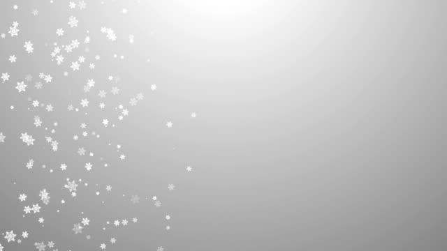 vidéos et rushes de fond de flocons de neige - cadeau de noël