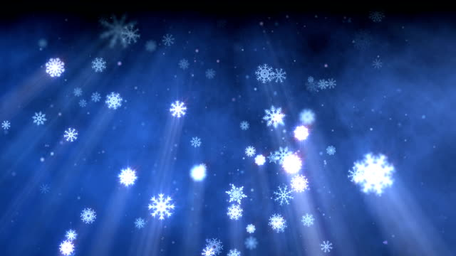 snow flakes christmas background blue - depth marker stock videos & royalty-free footage
