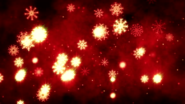 snow flakes christmas background in red - depth marker stock videos & royalty-free footage