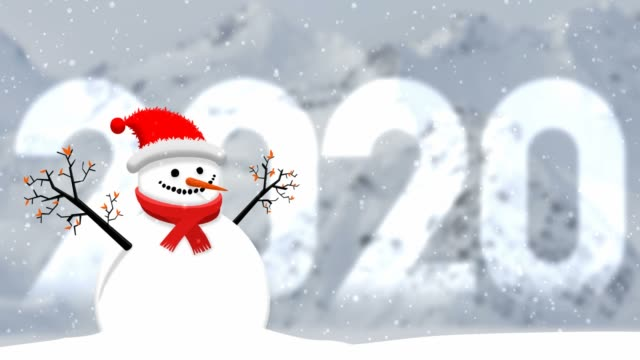snow globe for happy new year 2020 - new year's eve stock videos & royalty-free footage