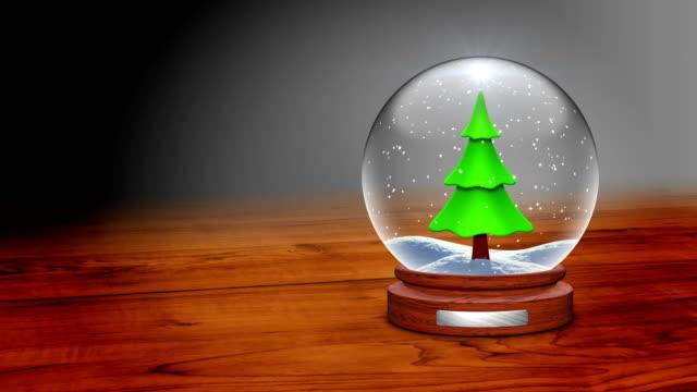 Snow Globe on the table - Christmas card