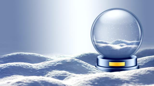 Snow Globe on Winter Landscape