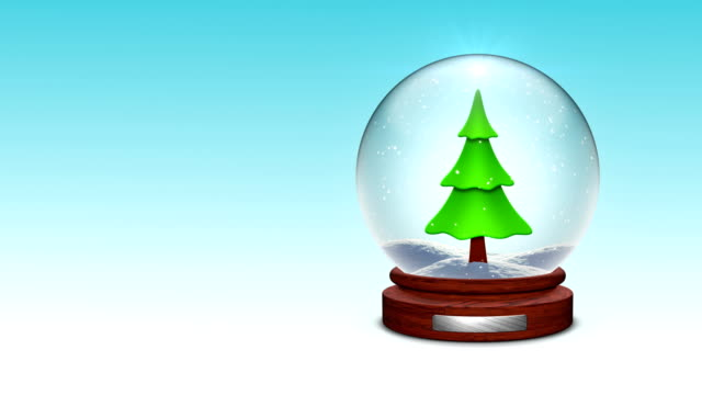 snow globe - fir tree stock videos and b-roll footage