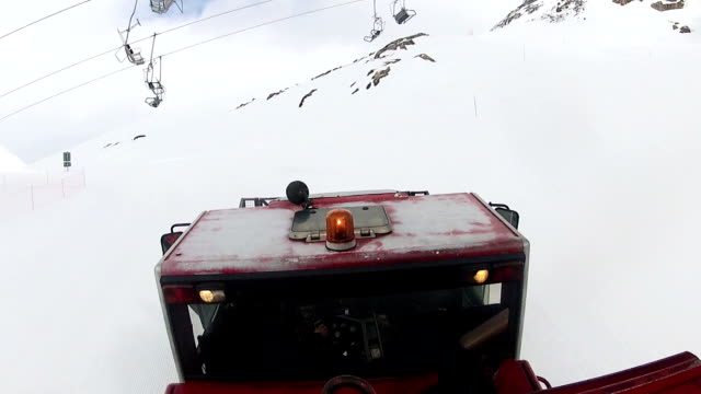 snow groomer ride - snow vehicle stock videos and b-roll footage
