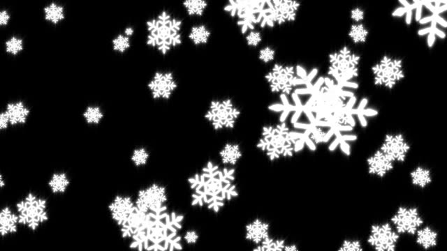 snow #3 hd - snowflake stock videos & royalty-free footage