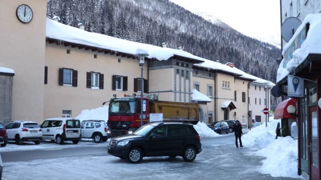 Snow in Brennero Italy on February 6 2019
