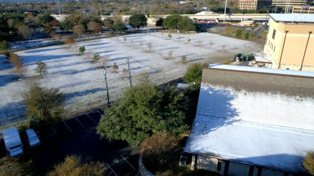 Sneeuw in Open veld Austin (Texas)