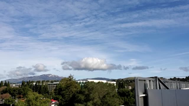 snow is visible atop mount diablo, a rare occurrence in the san francisco bay area, seen from san ramon, california in an aerial view, january 17,... - occurrence stock videos & royalty-free footage