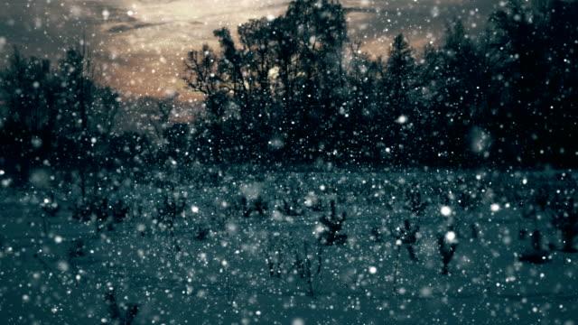 snow endlos wiederholbar - schneeverwehung stock-videos und b-roll-filmmaterial