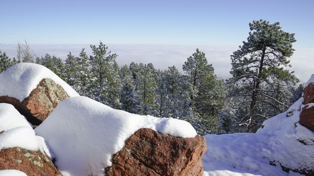 snow melting on rocks mountain timelapse - boulder stock videos & royalty-free footage