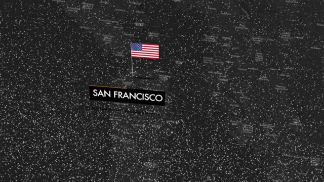 Snow on San Francisco map