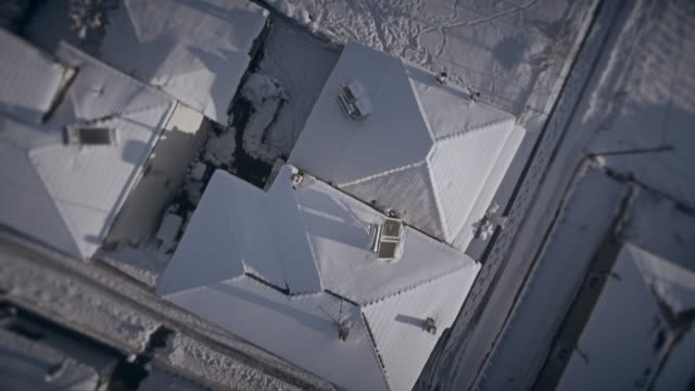 Snow over roofs 3d look