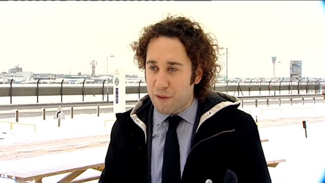 snow ploughs at work at airport andrew teacher interview sot saying it is complex situation / recommend passengers check status of their flights... - snow vehicle stock videos and b-roll footage