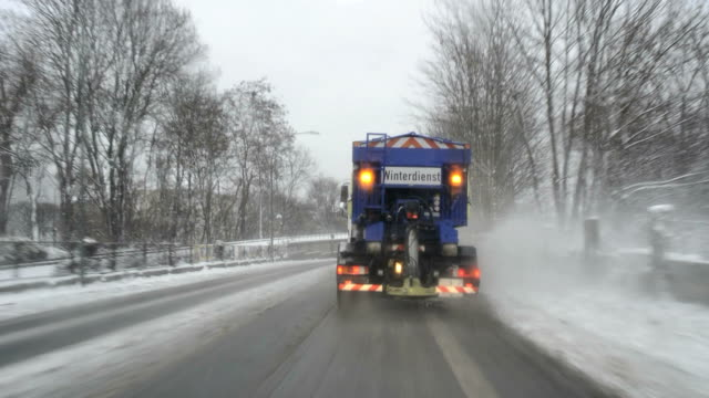 snow plow truck - snowplough stock videos & royalty-free footage