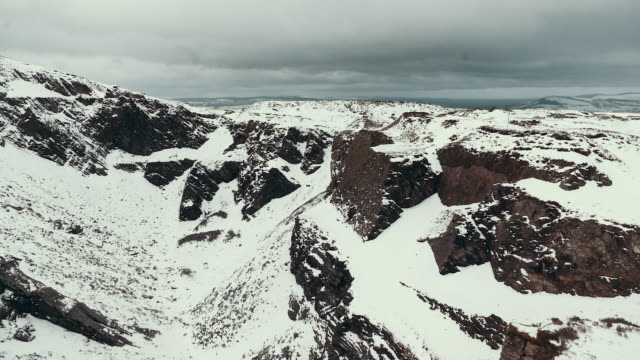 snow quarry - wales - uk - wales stock-videos und b-roll-filmmaterial