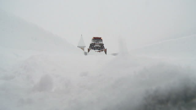 hd: snow removal - snowplough stock videos & royalty-free footage