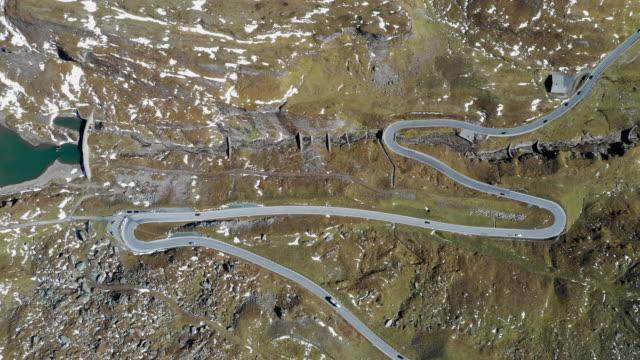 snow scene of grossglockner highway in european alps, austria - austria stock videos & royalty-free footage