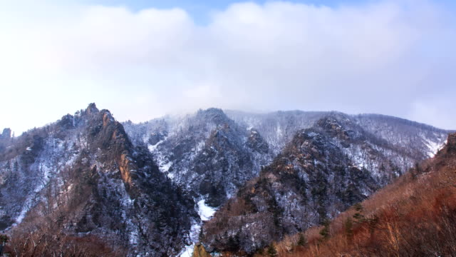 Snow scene of National Park in Mt.Seoraksan (Biosphere preservation district by UNESCO)