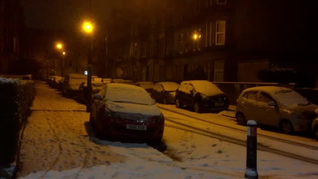 Snow settles in Glasgow overnight as wintry conditions continue to hit the north of the UK Police Scotland said that travel conditions this morning...