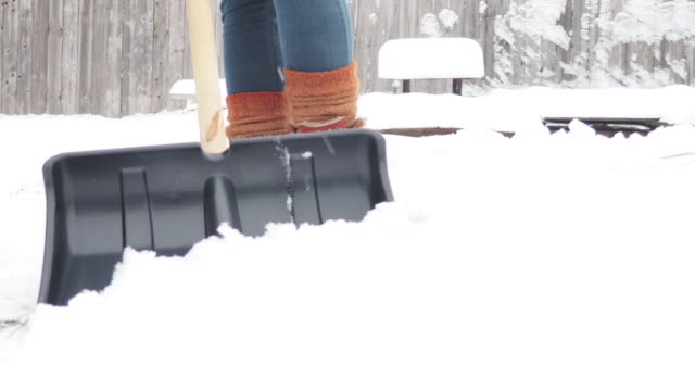 snow shoveling - spade stock videos & royalty-free footage