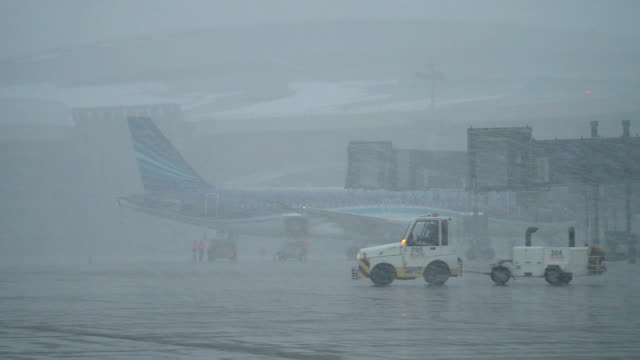 Snow Storm at the Airport