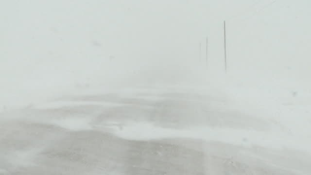 snow storm in country - snow storm stock videos and b-roll footage