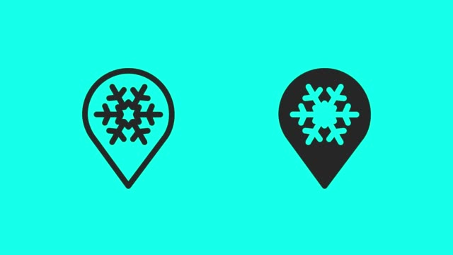 snow town icons - vector animate - map pin icon stock videos and b-roll footage