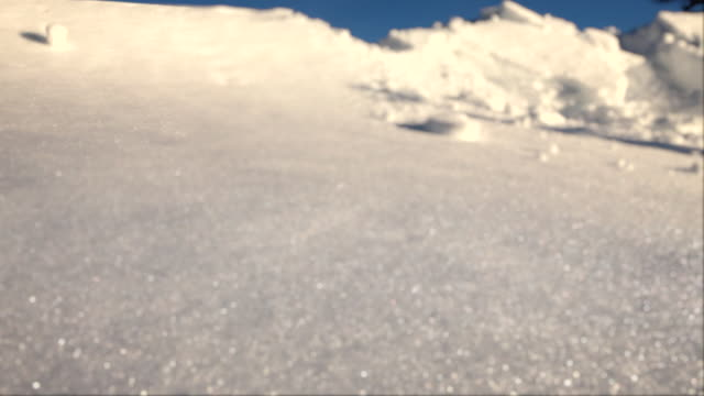 A snowball gains momentum as it rolls down a slope.