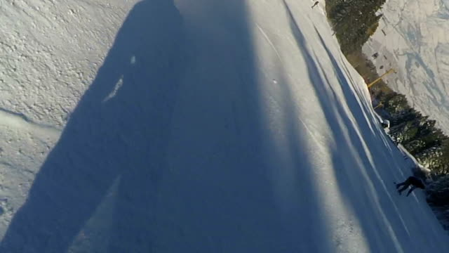 snowboarder freerider - powder snow stock videos and b-roll footage