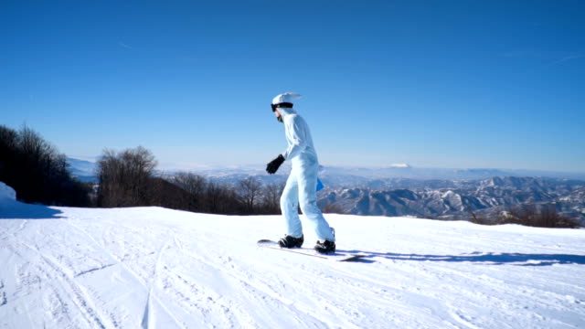 snowboarder on ski slope - rabbit costume stock videos & royalty-free footage