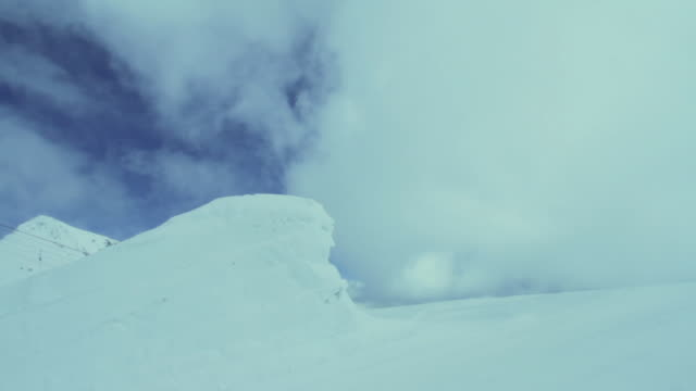 ws snowboarder performing stunts / mayrhofen, zillertal, austria - north tirol stock videos & royalty-free footage