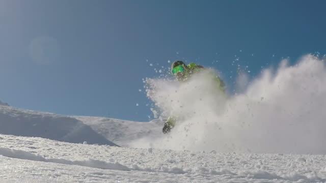 Snowboarding Fresh Snow Turn