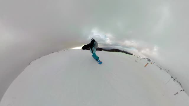 snowboarding friends riding on a snowy mountain - ski holiday stock videos & royalty-free footage