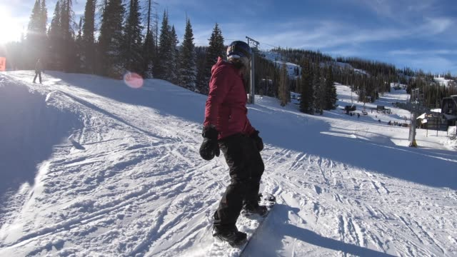 snowboarding - aspen tree stock videos & royalty-free footage
