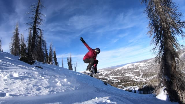 snowboarding - skiing stock videos & royalty-free footage