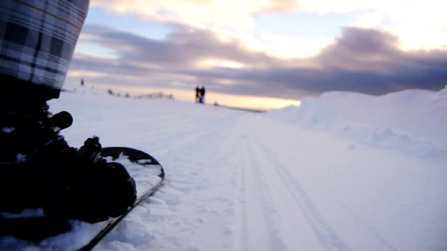 snowboard-pov - snowboard video stock e b–roll