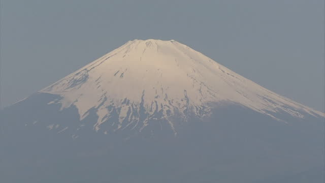 aerial, snowcapped mount fuji - shizuoka prefecture stock videos and b-roll footage