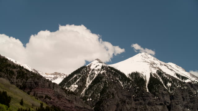 snowcapped mountain - colorado stock videos and b-roll footage