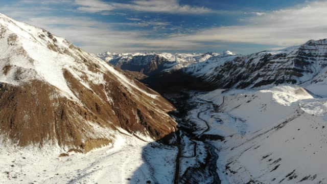 snowcapped mountains in cajon del maipo - chile stock videos & royalty-free footage