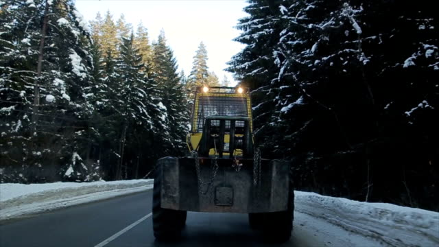 snow-cleansing vehicle on the road - snow vehicle stock videos and b-roll footage